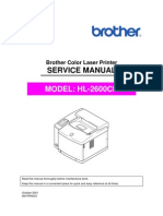 Brother HL-2600cn Service Manual