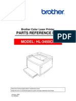 Brother HL-3450cn Parts Manual