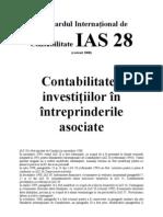 IAS Standardul International de Contabilitate IAS 28