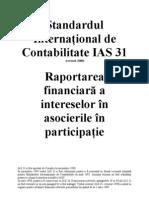 IAS Standardul International de Contabilitate IAS 31
