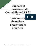 IAS Standardul International de Contabilitate IAS 32