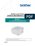 Brother HL-5030, 5040, 5050, 5070n Parts Manual