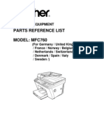 Brother MFC-760 Parts Manual