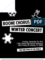 Boone Chorus Winter Concert Program 2012