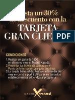 Tarjeta Gran Cliente Madrid Xanadú