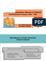 Michal Kulesza - Public Administration Reform in Poland 1999