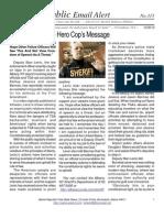 315 - Hero Cop's Message - Re First Amendment