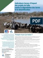 Indicateurs locaux d'impact  des projets de lutte  contre la dégradation des terres  et la désertification