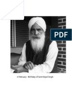 6 February, Birthday of Sant Kirpal Singh