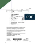 GCSE Maths 306546 Unit 1 Higher Section B(specimen)
