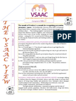 VSAAC October Newsletter 2012