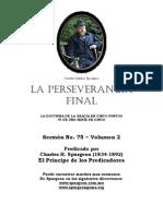 Copia de La Perseverancia Final Spurgeon