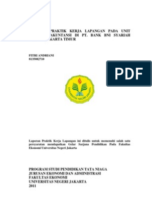 Contoh Laporan Magang Di Bank Syariah Pdf