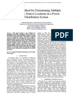 A New Method for Determining Multiple Harmonic Source Locations in a Power Distribution System