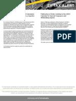 Tax Alert - Providencia N° 0066 - Calendario Sujetos Pasivos Especiales y Agentes de Retención para el año 2013