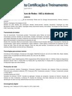 Conteúdo Programático - Conceitos e Infraestrutura de Redes - IAD (a distância)