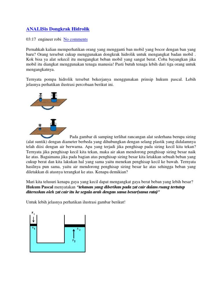 Contoh Soal Dongkrak Hidrolik Dan Penyelesaiannya ...