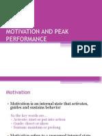 Session 13 Motivation and Peak Performance