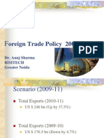 Foreign Trade Policy March 2012