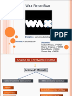 Wax RestoBar - Análise de Marketing