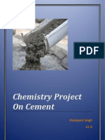 Chemistry Project on Cement