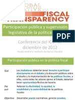 Nicola Smithers, World Bank Institute - GIFT Participation and Legislature (Espanol)