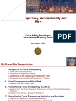 Fiscal Transparency Accountability and Risk