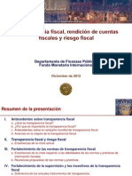 Fiscal Transparency Accountability and Risk (Espanol)