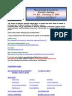 Mental Health Bulletin No. 191 February 2nd 2009