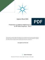 Agilent Technologies ~ Adaptive Feedforward Linearization for RF Power Amplifiers Part 2 (5989-9106EN) by Shawn P. Stapleton (Simon Fraser University), 06-2001.