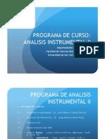 Programa Analisis Instrumental II