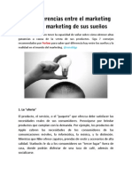 Siete diferencias entre el marketing real y el marketing de sus sueños