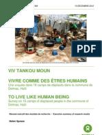 L'ENQUETE DE L'OXFAM DANS LES CAMP D'HAITI