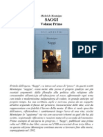 76853608 Michel de Montaigne Saggi Volume Primo