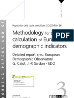 Methodology for the Calculation of Eurostats Demographic Indicators