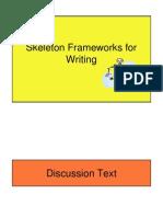 Skeleton Frameworks for Writing