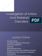 Investigation of Amino Acid Metabolism Disorders Series 1