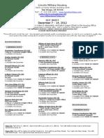 Hot Sheet December 7 - 14, 2012