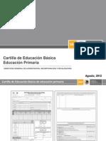 Cartilla de educacion basica primaria 2012