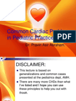 Common cardiac problems in pediatric practice