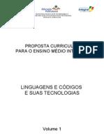 Proposta Curricular Linguagens - Final