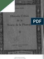Carlos Marx. Historia de la Teoría de la Plusvalía. Tomo II.