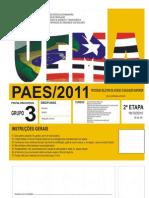 Prova do Vestibular de Biologia grupo 3 2011.pdf