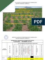 BOLETÍN AGROMETEOROLOGICO Decadal Nº 356-Para la eco región del Altiplano-1er Decadal de DICIEMBRE del 2012