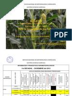 BOLETÍN AGROMETEOROLOGICO Decadal Nº 357-Para la eco región de los Valles-1er Decadal de DICIEMBRE del 2012