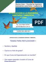 Introduccion a La Ingenieria Sanitaria y Ambiental 1a Clase