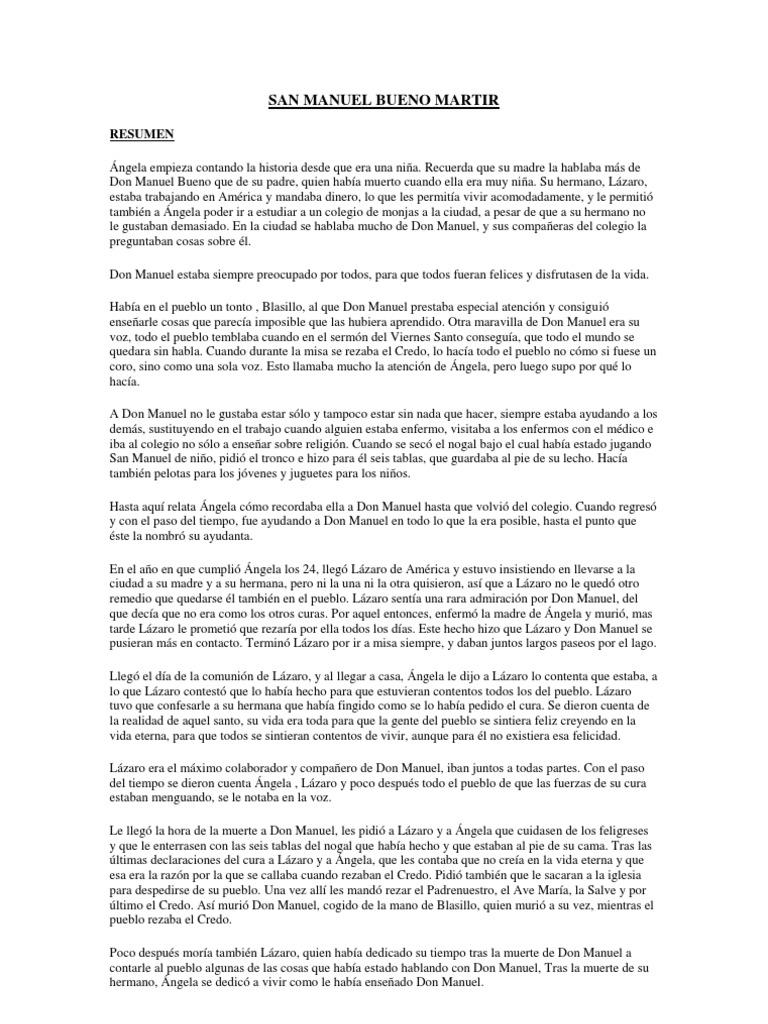 Resumen San Manuel Bueno Martir Download