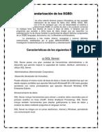 Estandarización de los SGBD