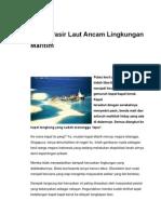 Sedot Pasir Laut Ancam Lingkungan Maritim
