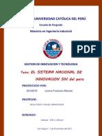 Informe SNI - Peru